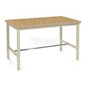"60""W x 36""D Production Workbench - Shop Top Square Edge - Tan"