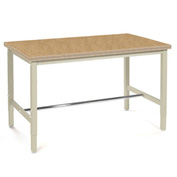 "72""W x 30""D Production Workbench - Shop Top Square Edge - Tan"