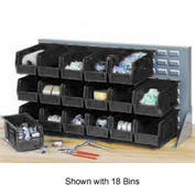 "Quantum QBR-2721-220-24CO Bench Rack With 24-7-3/8""D Conductive Stacking Bins, 27x8x21"