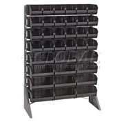 Quantum QRU-16S-220230240CO Single Sided Floor Rail Rack w/ 46 Mixed Conductive Bins, 36x15x53