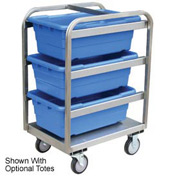 Jamco Stainless Steel Lug Tote Cart YH218-U5-AS-NB - All Welded 3 Lug Tote Capacity, No Totes