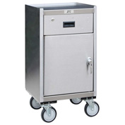 Jamco Stainless Steel Mobile Cabinet YS118 with Drawer 18 x 18 1200 Lb Cap