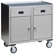Jamco Stainless Steel Mobile Cabinet YV136 2 Doors & 2 Drawers 36x18 1200 Lb.