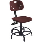 "Bio Fit 24 Hour Antimicrobial Stool - 22-27"" Seat Ht. Burgundy"