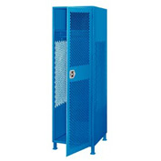 Pucel All Welded Gear Locker With Door And Legs 24x18x72 Blue