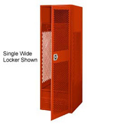 Pucel All Welded 3 Wide Gear Locker With Door Foot Locker 24x18x72 Red
