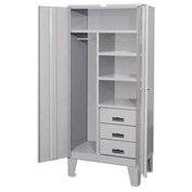 Heavy Duty Combination Cabinet with Drawers - 36x24x78