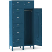 Penco 6575V806 Vanguard 7 Person Locker 36x21x72 Ready To Assemble Marine Blue