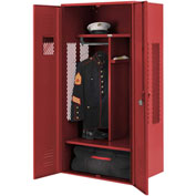 Penco 6KGDA30722 Patriot Gear Locker 42x24x72 Ready To Assemble Patriot Red