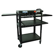 Buhl Audio Visual Cart with Two Pull-Out Side & One Center Shelves