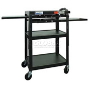 Buhl Audio Visual Cart with Two Side Pull-Out Shelves