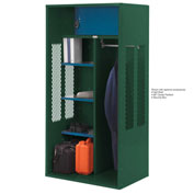 Penco 6KTDA20812 Patriot Turnout Locker 36x24x72 Ready To Assemble Hunter Green