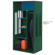 Penco 6KTDA30812 Patriot Turnout Locker 42x24x72 Ready To Assemble Hunter Green