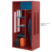 Penco 6KTDA40722 Patriot Turnout Locker 48x24x72 Ready To Assemble Patriot Red