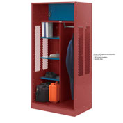 Penco 6WTDA00C722 Patriot Turnout Welded Locker 24x24x76 Patriot Red