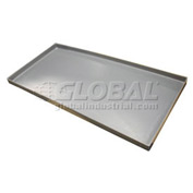 Rotationally Molded Plastic Tray 53x33x3 Gray