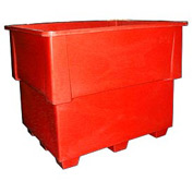 Bayhead IND-1-RED Nesting Pallet Container 52x42x42 1200 Lb Cap. Red
