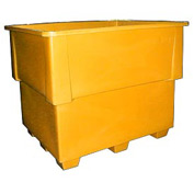 Bayhead IND-1-YELLOW Nesting Pallet Container 52x42x42 1200 Lb Cap. Yellow
