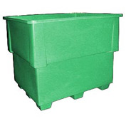 Bayhead IND-1-GREEN Nesting Pallet Container 52x42x42 1200 Lb Cap. Green