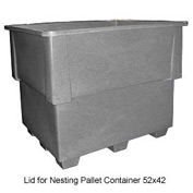Bayhead IND-LID-GRAY Lid for Nesting Pallet Container 52x42 Gray
