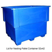 Bayhead IND-LID-BLUE Lid For Nesting Pallet Container 52x42 Blue