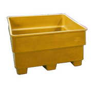 Bayhead SNP-33-YELLOW Nesting Pallet Container 43x43x33 1000 Lb Cap. Yellow