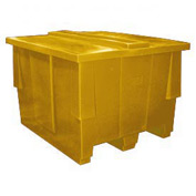 Bayhead SNP-5042-YELLOW Nesting Pallet Container With Lid 50x42x33 1000 Lb Cap. Yellow
