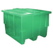 Bayhead SNP-5042-GREEN Nesting Pallet Container With Lid 50x42x33 1000 Lb Cap. Green