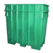 Bayhead AB-65-GREEN Nesting Pallet Container 75x45x65 1500 Lb Cap. Green