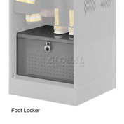 Penco 6ACXAB94H028 Foot Locker For Patriot Locker, 30x24x12 Gray