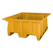 Bayhead SKA-1-YELLOW Stacking Pallet Container 40x39x20 600 Lb Cap.  Yellow