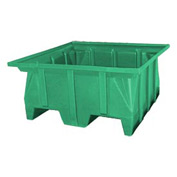 Bayhead SKA-1-GREEN Stacking Pallet Container 40x39x20 600 Lb Cap.  Green