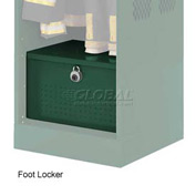 Penco 6ACXAB96H812 Foot Locker For Patriot Locker, 42x24x12 Hunter Green