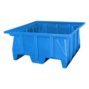Bayhead SKA-2-BLUE Stacking Pallet Container 40x40x30 1000lb Cap Blue