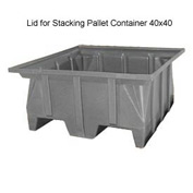 Bayhead SKA-LID-GRAY Lid for Stacking Pallet Container 40x40 Gray