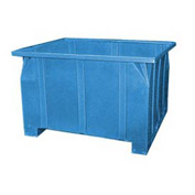 Bayhead GG-24-BLUE Stacking Pallet Container 47x42x24 800 Lb Cap. Blue