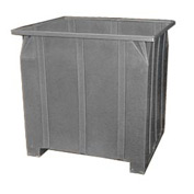 Bayhead GG-48-GRAY Stacking Pallet Container 47x42x48 1200Lb Cap. Gray