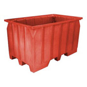 Bayhead AT7040-RED Stacking Pallet Container 73x43x42 1500lb Cap. Red