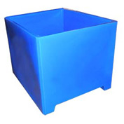 Bayhead DWP-37-BLUE Stacking Pallet Container 49x41x37 1200lb Cap. Blue
