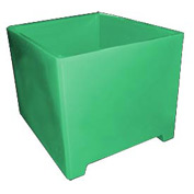Bayhead DWP-37-GREEN Stacking Pallet Container 49x41x37 1200lb Cap. Green