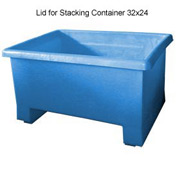 Bayhead TEX-LIDBLUE Lid For Stacking Container 34x24 Blue