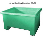 Bayhead TEX-GREEN Lid For Stacking Container 32x24 Green