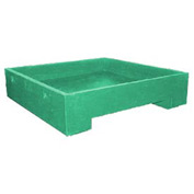 Bayhead DWP-11GREEN Stacking Plastic Container 45x45x11 600 Lb Cap. Green