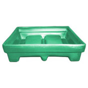 Bayhead MMPC-2GREEN Low-Walled Container 65x51x15 1000 Lb Cap. Green