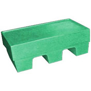 Bayhead SP-5GREEN Low-Profile Container With Lid 30x18x10 500 Lb Cap. Green