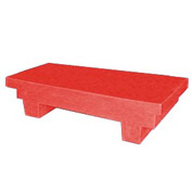 Bayhead EW-4RED Low-Profile Container With Lid 33-1/2x17x8-1/2 300 Lb Cap. Red