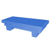 Bayhead EW-4BLUE Low-profile Container with Lid 33-1/2x17x8-1/2 300 Lb Cap. Blue