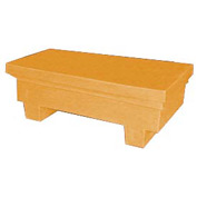 Bayhead EW-4ExYELLOW Low-Profile Container With Lid 33-1/2x17x11-1/2 300 Lb Cap. Yellow