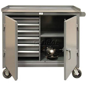 Strong Hold Products 4-TC-241-6/5DB Six-Drawer Mobile Tool Cart