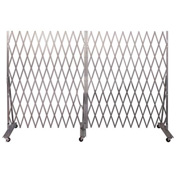 "Folding Security Gate 7'6""Hx12'W In-Use"